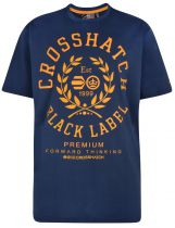 Tshirt Manches Courtes Bleu Marine Cross Hatch du 3XL au 6XL