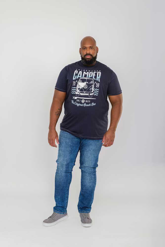 Tshirt Manches Courtes Bleu Marine Duke 2XL au 6XL