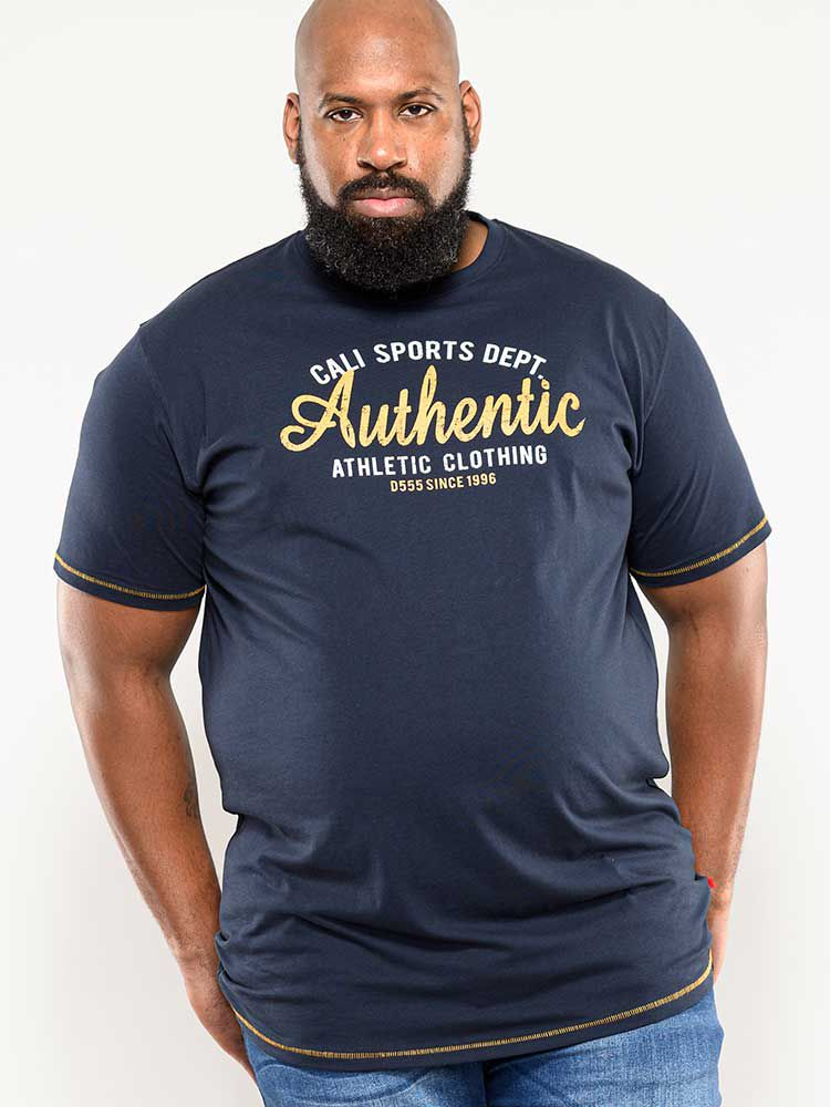 Tshirt Manches Courtes Bleu Marine Duke Du 2XL au 8XL
