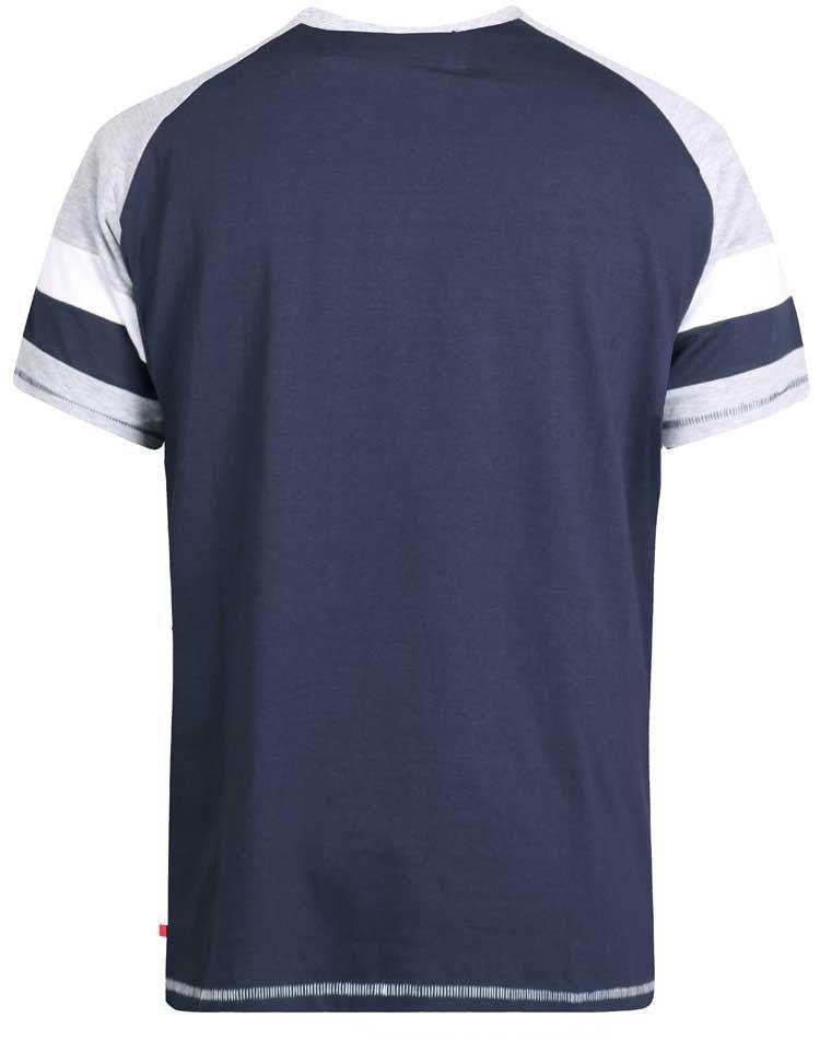 Tshirt Manches Courtes Bleu Marine Duke Du 3XL au 6XL