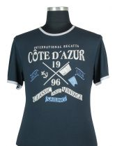 Tshirt Manches Courtes Bleu Marine Kitaro du 2XL au 8XL