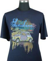 Tshirt Manches Courtes Bleu Marine Maxfort du 3XL au 8XL