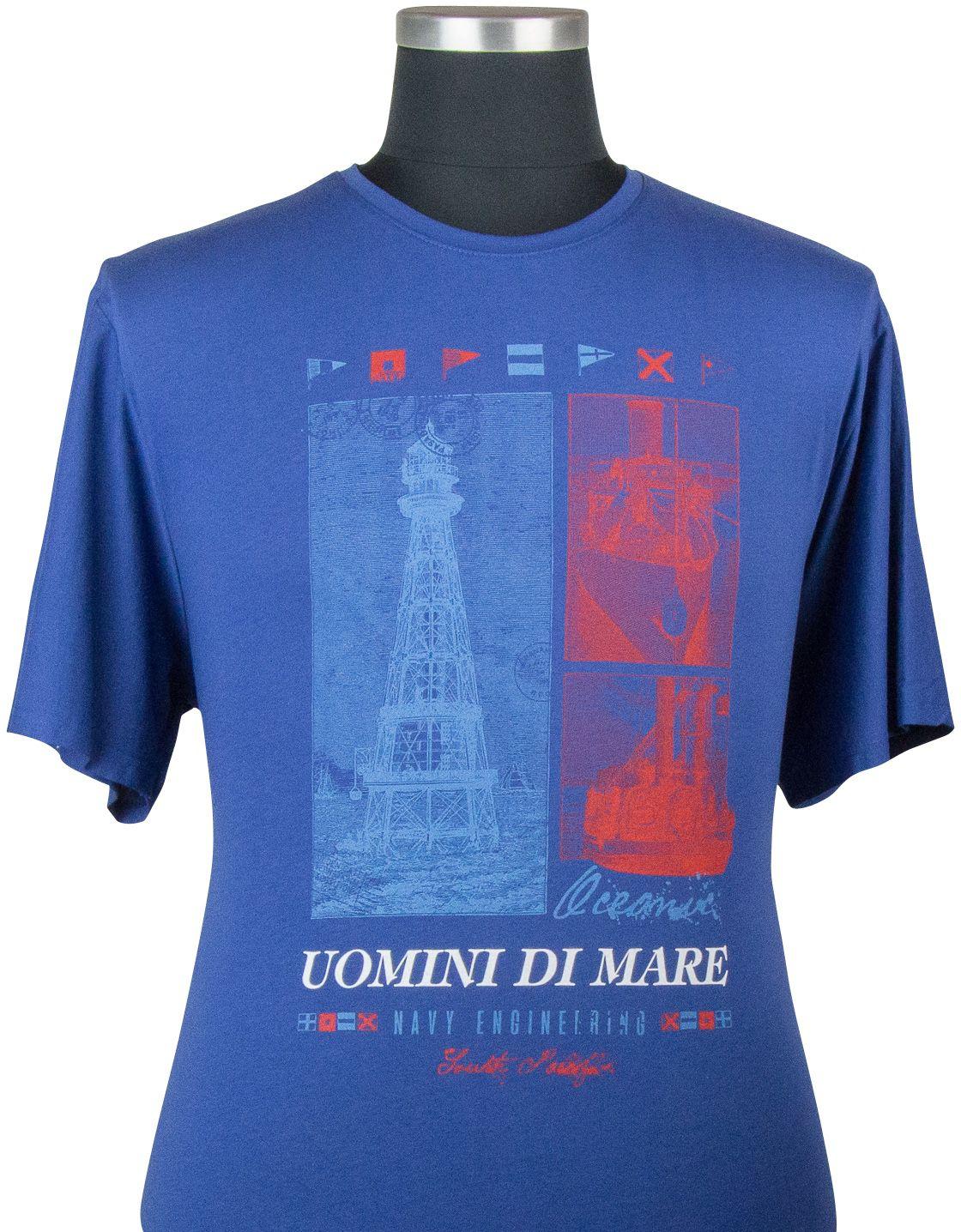 Tshirt Manches Courtes Bleu Maxfort du 3XL au 8XL