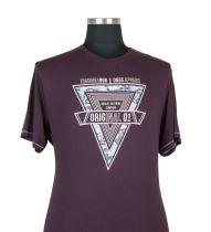 Tshirt Manches Courtes Bordeaux 3XL à 8XL Duke