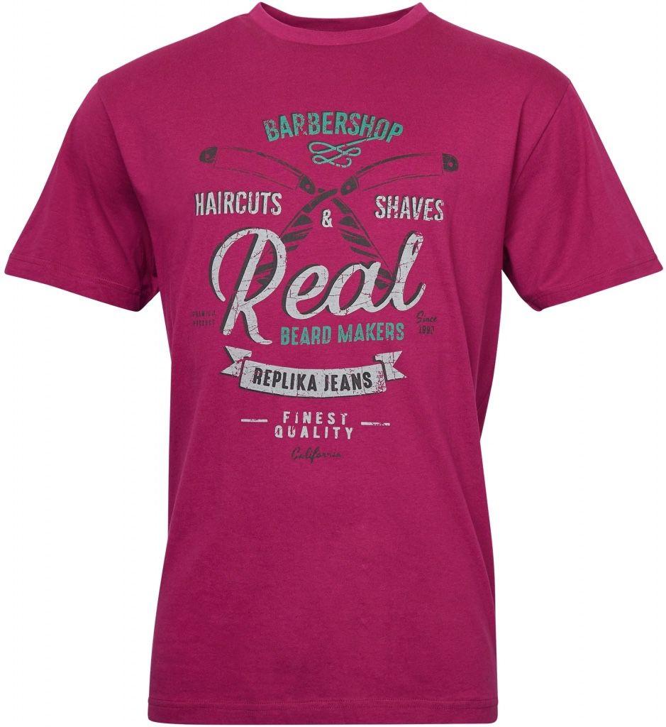 Tshirt Manches Courtes Bordeaux All Size du 2XL au 8XL