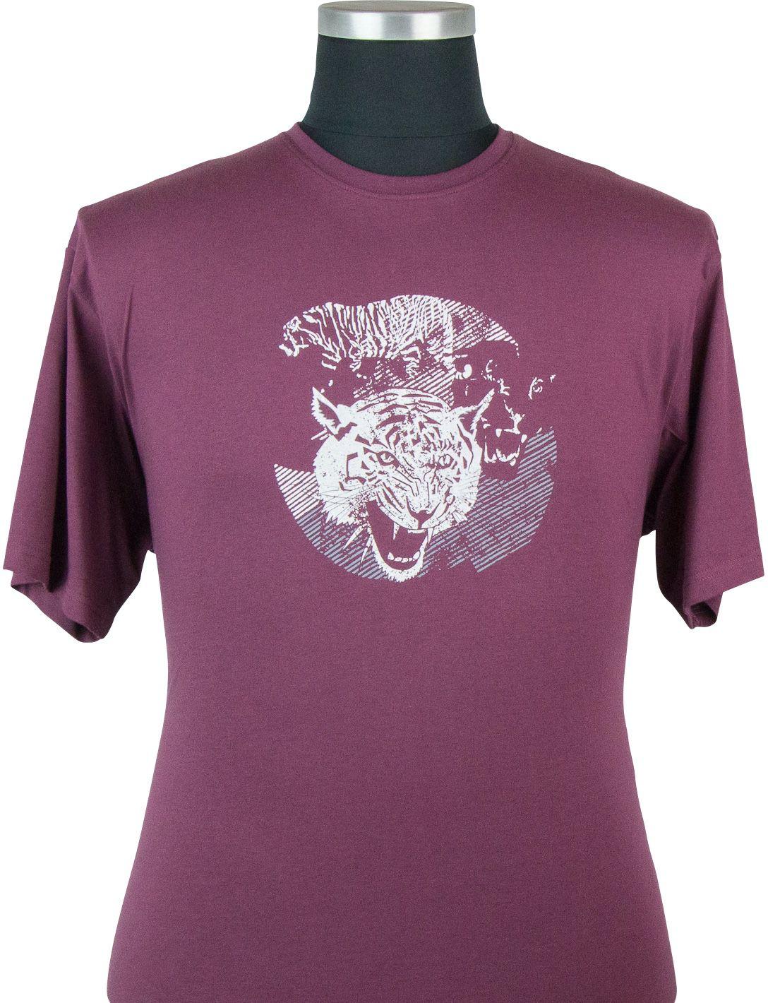 Tshirt Manches Courtes Bordeaux Cotton Valley du 2XL au 8XL