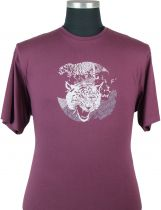 Tshirt Manches Courtes Bordeaux Cotton Valley du 2XL au 8XL