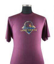Tshirt Manches Courtes Bordeaux du 2XL au 8XL Cotton Valley