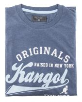 Tshirt Manches Courtes Grande Taille Bleu Marine Kangol du 2XL au 5XL