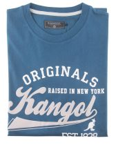 Tshirt Manches Courtes Grande Taille Bleu Pétrol Kangol du 2XL au 5XL