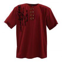 Tshirt Manches Courtes Grande Taille Bordeaux Lavecchia du 3XL au 8XL