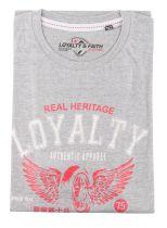 Tshirt Manches Courtes Grande Taille Gris Loyalty & Faith du 2XL au 5XL