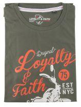 Tshirt Manches Courtes Grande Taille Kaki Loyalty & Faith du 2XL au 5XL