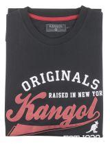 Tshirt Manches Courtes Grande Taille Noir Kangol du 2XL au 5XL