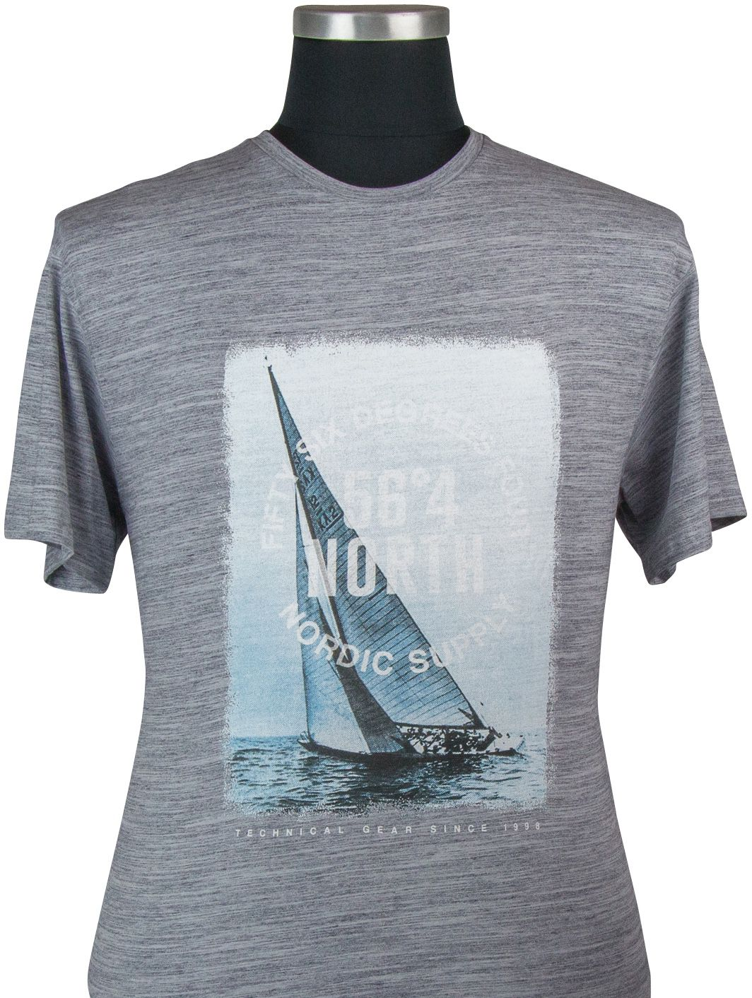 Tshirt Manches Courtes Gris All Size du 2XL au 8XL