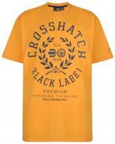 Tshirt Manches Courtes Jaune Cross Hatch du 3XL au 6XL