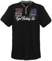 Tshirt Manches Courtes Noir du 3XL au 8XL Lavecchia