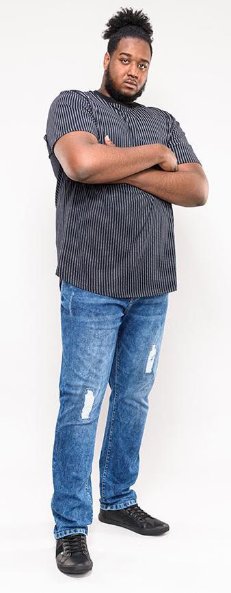 Tshirt Manches Courtes Noir Duke Du 3XL au 6XL