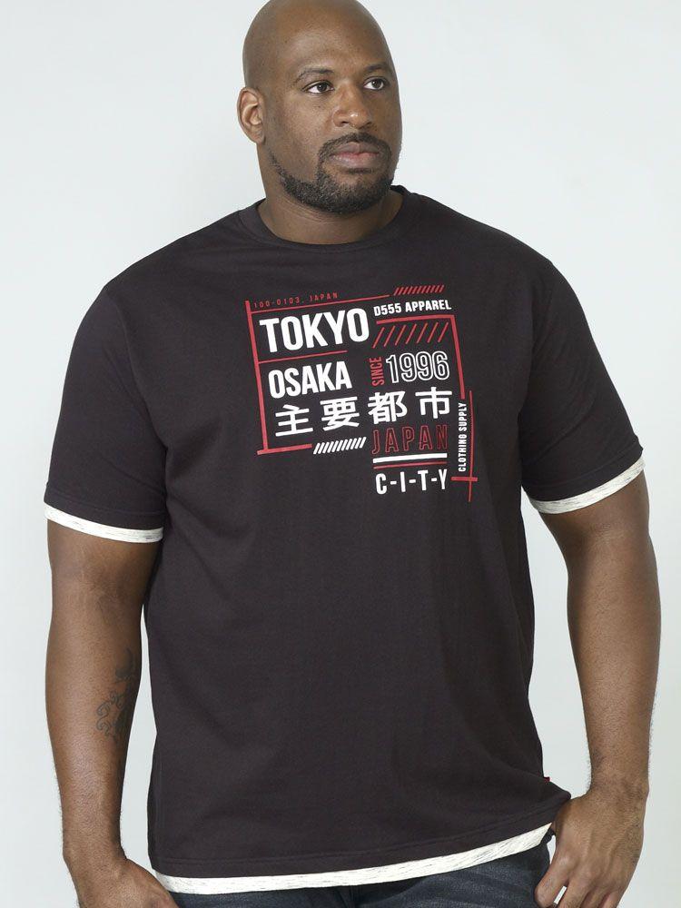 Tshirt Manches Courtes Noir Duke Du 3XL au 8XL