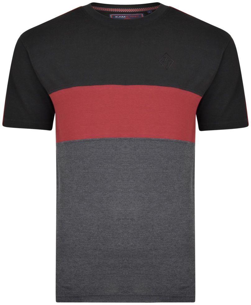Tshirt Manches Courtes Noir Kam du 2XL au 8XL