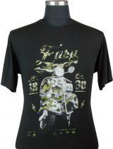 Tshirt Manches Courtes Noir Maxfort du 3XL au 8XL