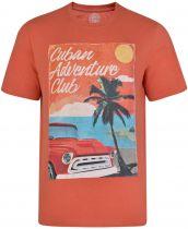 Tshirt Manches Courtes Orange Kam du 2XL au 8XL