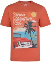 Tshirt Manches Courtes Orange Kam du 2XL au 8XL