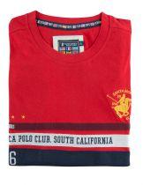 Tshirt Manches Courtes Rouge Santa Monica du 2XL  au 6XL