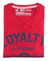 Tshirt Manches Courtes Rouge Seven Series du 2XL  au 5XL