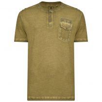 Tshirt Manches Courtes Vert Olive Kam du 2XL au 8XL