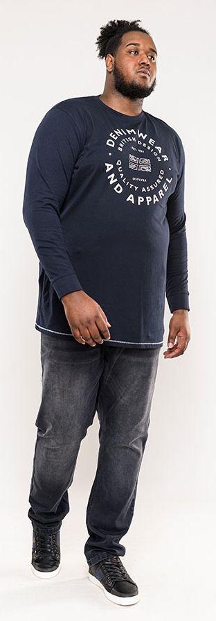 Tshirt Manches Longues Bleu Marine Duke Du 2XL au 8XL