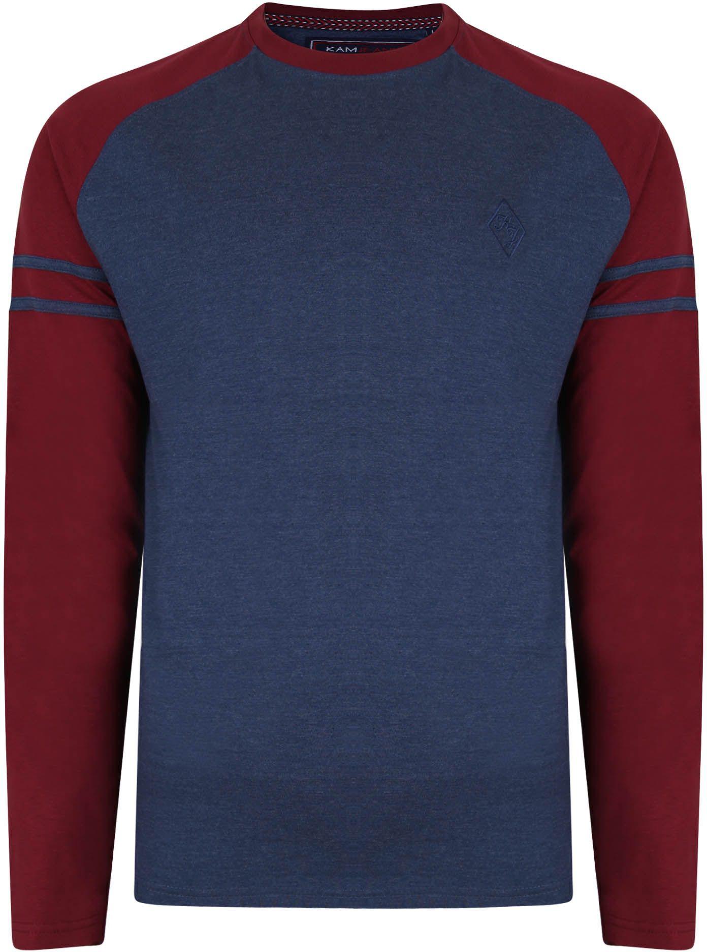 Tshirt Manches Longues Bleu Marine Kam du 2XL au 8XL