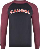 Tshirt Manches Longues Noir Kangol du 2XL au 6XL