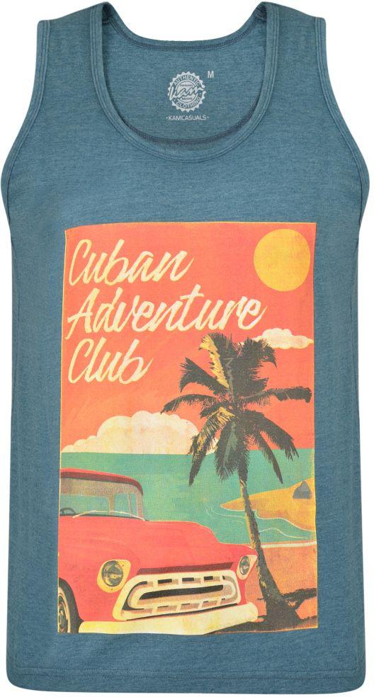 Tshirt Sans Manches  Bleu Kam du 2XL au 8XL