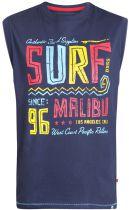 Tshirt Sans Manches  Bleu Marine Duke Du 2XL au 8XL