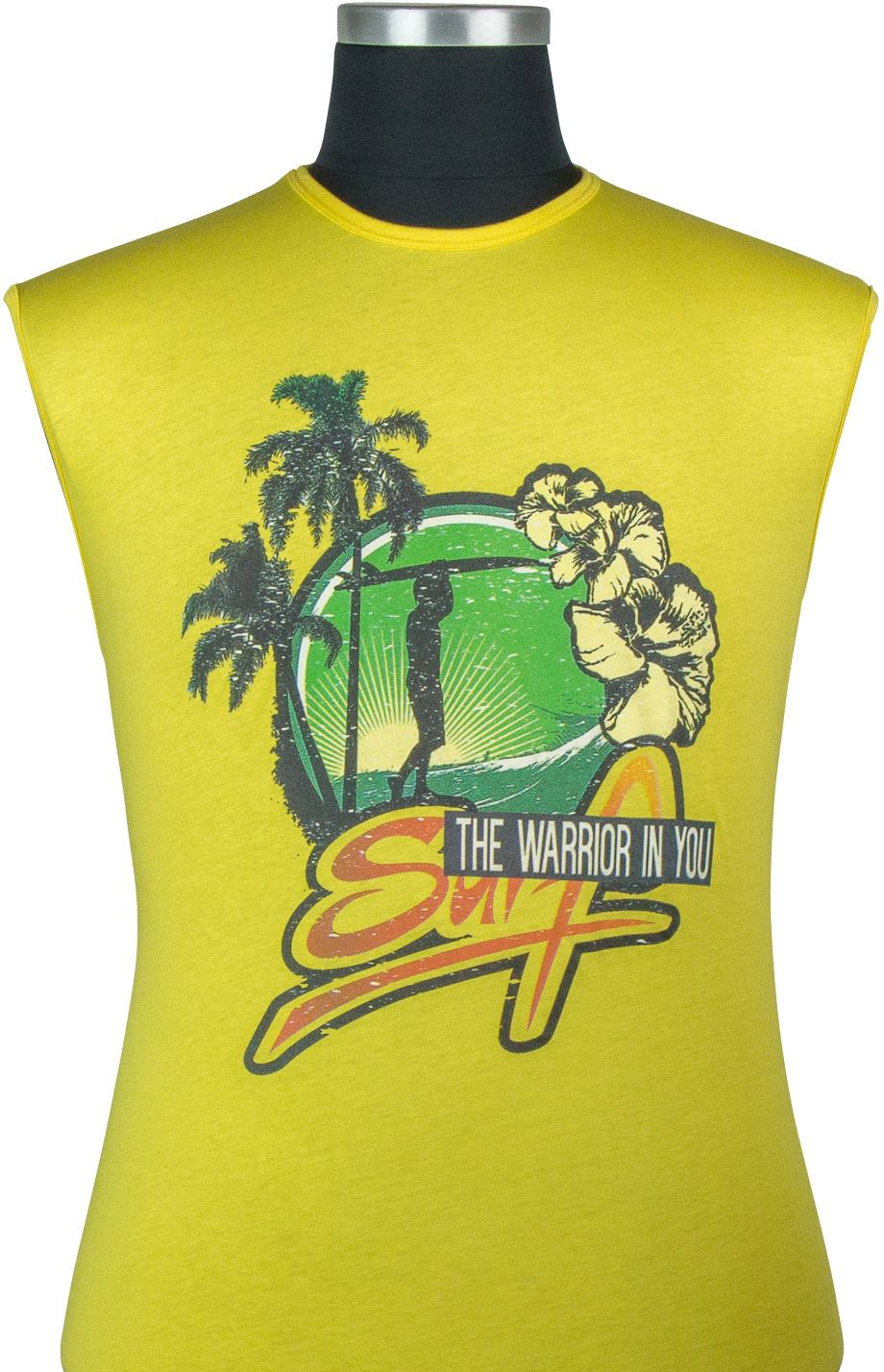 Tshirt Sans Manches  Jaune Maxfort du 3XL au 8XL